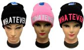 "48 Units of ""Whatever"" Winter Knit Hat - Winter Beanie Hats"