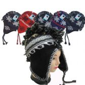 36 Units of Mohawk Winter Hat in Assorted Colors - Winter Hats