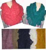 24 Units of Women's Assorted Colors Scarves - Womens Fashion Scarves