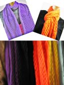 24 Units of Women's Magic Scarf in Assorted Colors - Womens Fashion Scarves