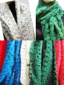24 Units of Women's Assorted Color Hole Design Scarves - Womens Fashion Scarves