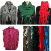 48 Units of Assorted Color Magic Scarves - Womens Fashion Scarves