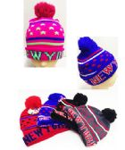 24 Units of New York Winter Hat with Star Design - Winter Beanie Hats