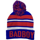 "24 Units of ""BAD BOY"" Printed Hats in Assorted Colors - Winter Beanie Hats"