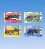 4 Units of Die Cast Set In Box - Cars, Planes, Trains & Bikes