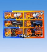 12 Units of CONSTRUCTION TRUCKS IN BOX - Cars, Planes, Trains & Bikes
