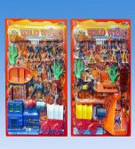 24 Units of Indian and Cowboy set in blister card - Light Up Toys