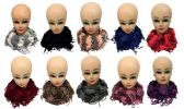 24 Units of Gold Lined Textured Infinity Knitted Scarves - Womens Fashion Scarves