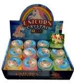 72 Units of Unicorn Crystal Mud Putty - Slime & Squishees