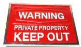 12 Units of Private Property Keep Out Belt Buckle - Belt Buckles