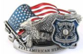 12 Units of American Hero Police Belt Buckle - Belt Buckles