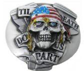 12 Units of Jolly Roger Skull Till Death Do us Part Belt Buckle - Belt Buckles