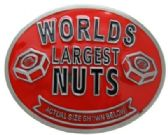 12 Units of Worlds Largest Nuts Belt Buckle - Belt Buckles