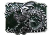 12 Units of Green Dragon Belt Buckle - Belt Buckles
