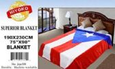 2 Units of Purto Rico Flag Queen One Ply Blanket - Fleece & Sherpa Blankets