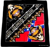 96 Units of Southern Skull Rebel Flag Graphic Bandanas - Bandanas