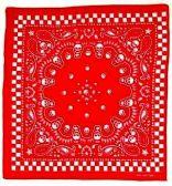 96 Units of Red Color Skull With Paisley Bandana - Bandanas