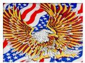 96 Units of Flying Eagle with Large Wings on American Flag Bandana - Bandanas