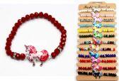 96 Units of Beaded Unicorn Bracelet Assorted - Bracelets