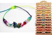 96 Units of Butterfly Bracelet Assorted Adjustable - Bracelets