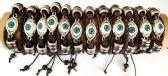 96 Units of Evil Eye Faux Leather Bracelet Assorted - Bracelets
