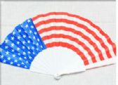 96 Units of American Flag Fan - Novelty Toys