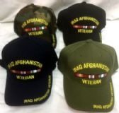 36 Units of Military Iraq and Afghanistan Veteran Hat cap - Baseball Caps & Snap Backs