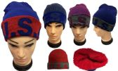48 Units of USA Plush Lining Winter Hat - Winter Beanie Hats