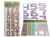 288 Units of 27pc Stickers Gemstone Numbers - Stickers
