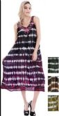 12 Units of India Made Tie Dye Long Dresses - Womens Sundresses & Fashion