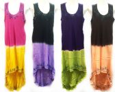 12 Units of Free Size High Low Tie Dye Dress with Embroidery - Womens Sundresses & Fashion