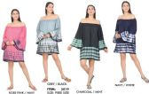 12 Units of Rayon Off Shoulder Bell Sleeve Tie Dye Dresses - Womens Sundresses & Fashion