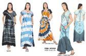 12 Units of Short Sleeve Rayon Maxi Tie Dye Dresses - Womens Sundresses & Fashion