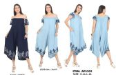 12 Units of Rayon Jumpsuit Off shoulder with Embroideries - Womens Sundresses & Fashion