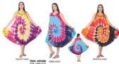 12 Units of Tie Dye Rayon Umbrella Dresses Assorted - Womens Sundresses & Fashion