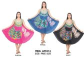 12 Units of Rayon Peacock Feather Printed Dresses - Womens Sundresses & Fashion