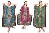 12 Units of Long Kaftan Dresses Cultural Pattern - Womens Sundresses & Fashion