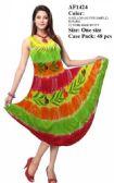 48 Units of Hand Painted Tie Dye Umbrella Dresses - Womens Sundresses & Fashion