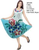 36 Units of Rayon Ombre Dye Hand Painted Umbrella Dresses - Womens Sundresses & Fashion