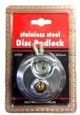 24 Units of Stainless steel Disc Padlock - Padlocks and Combination Locks