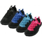 "36 Units of Children's Lace Up ""Wave"" Water Shoes - Unisex Footwear"