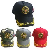 24 Units of United States Navy Caps in Assorted Colors - Hats With Sayings