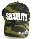 24 Units of Camo Print Security Caps - Hats With Sayings