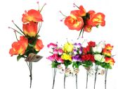 "144 Units of Rose 7 Head 15.75""L 6clrs - Artificial Flowers"