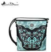 4 Units of Montana West Concho Collection Crossbody Black - Handbags