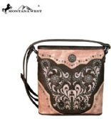 4 Units of Montana West Concho Collection Crossbody Coffee - Handbags