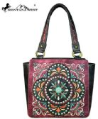 2 Units of Montana West Embroidered Collection Tote Bag Burgandy - Handbags