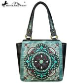 2 Units of Montana West Embroidered Collection Tote Bag Turquoise - Handbags