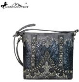 4 Units of Montana West Tooled Collection Cross body Black - Handbags