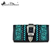4 Units of Montana West Buckle Collection Wallet Crossbody Black - Wallets & Handbags